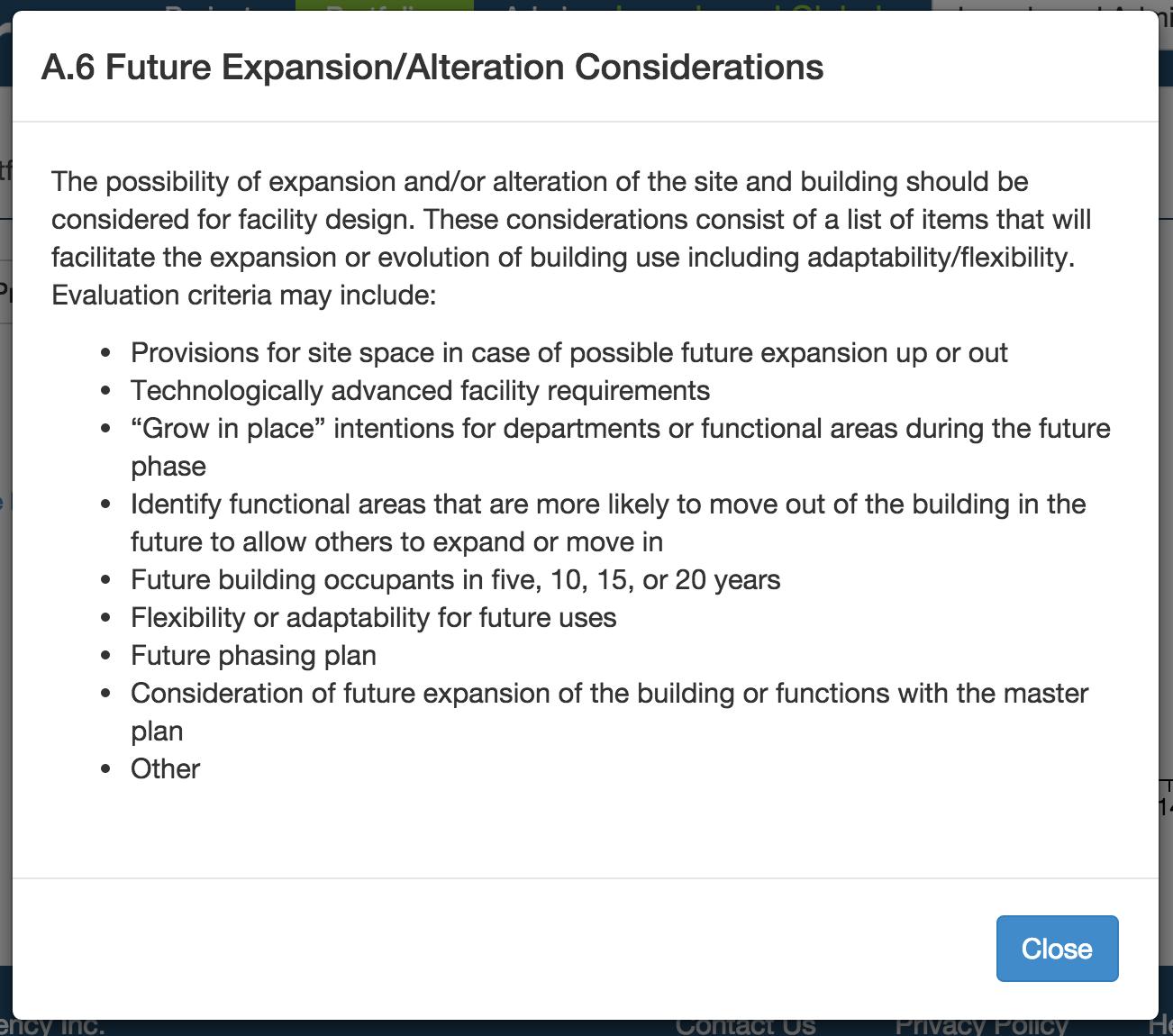 A.6 Future expansion/alternation considerations popup element description on Carve.