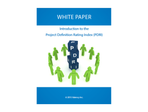 Introduction to PDRI White Paper