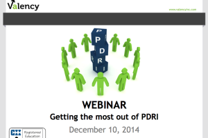 Webinar: Getting the most out of PDRI