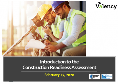 Webinar: Introduction to the Construction Readiness Assessment