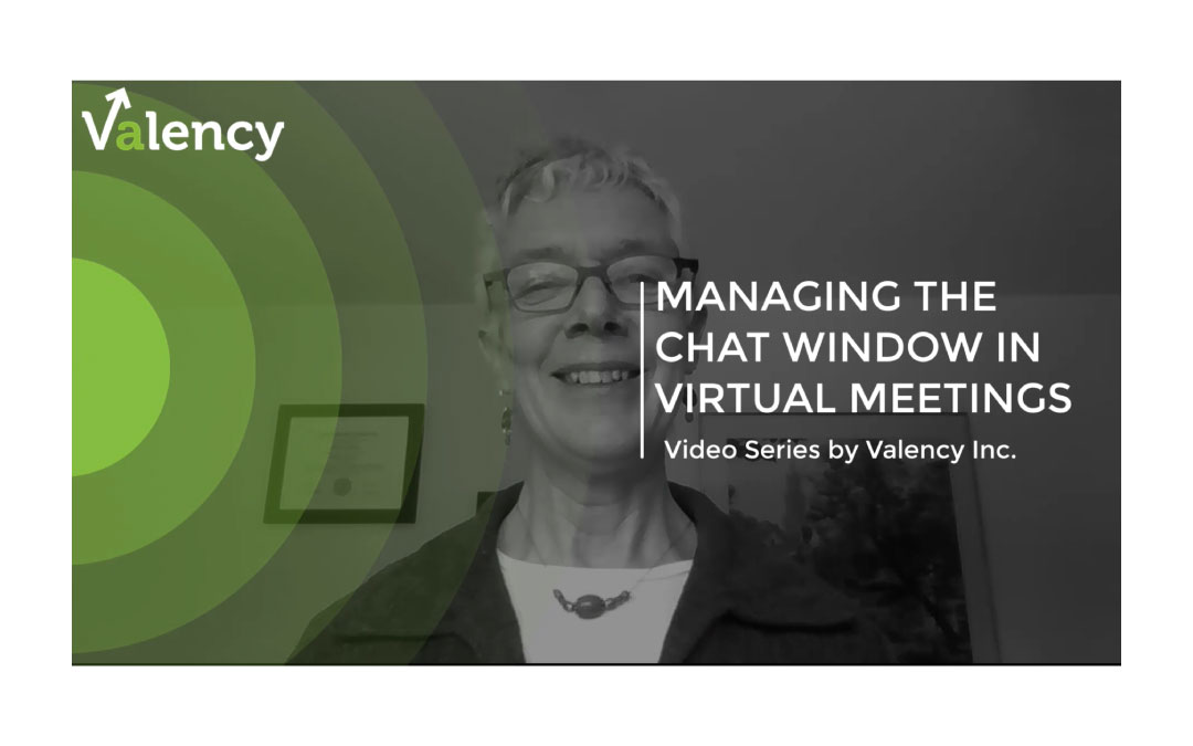 Monitoring the Chat Window in Virtual Meetings